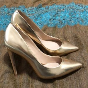 Gold Aldo Stiletto Heels